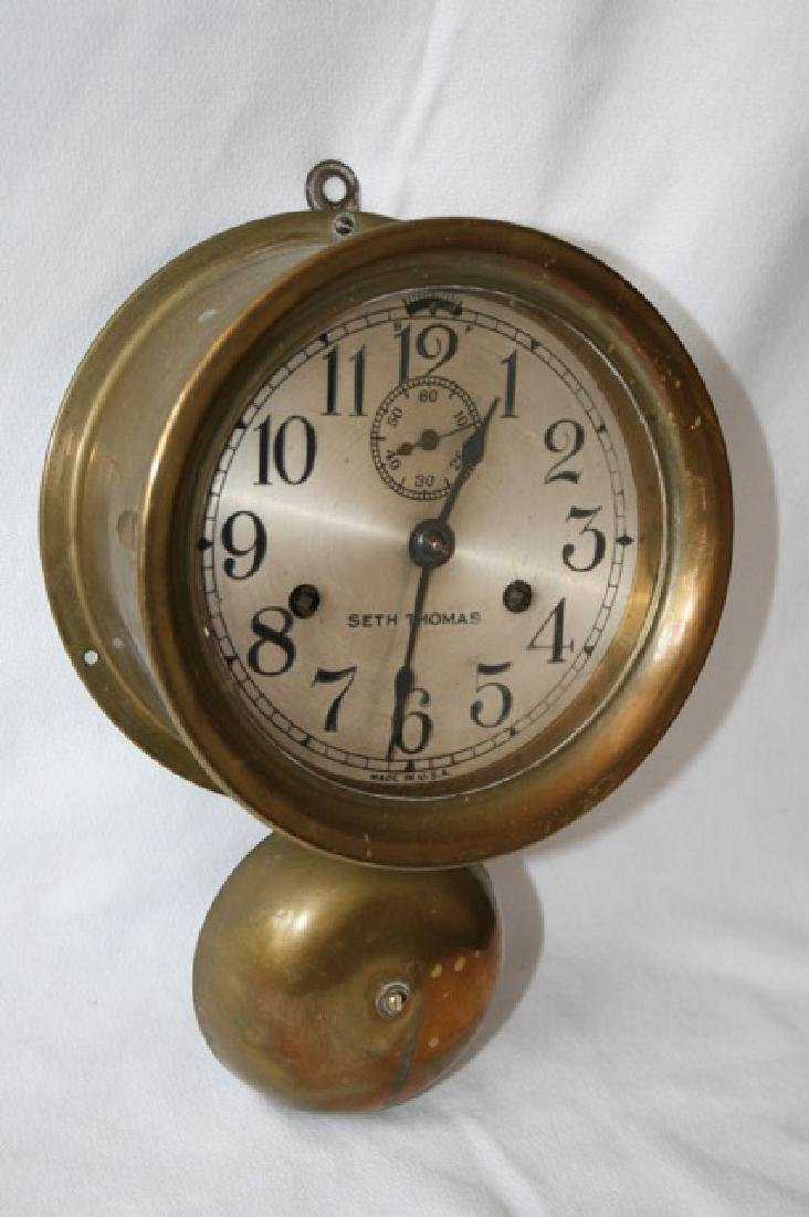 Seth Thomas Brass Ship's Clock - 4