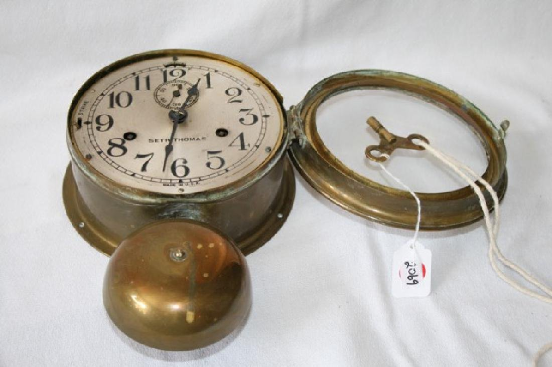 Seth Thomas Brass Ship's Clock - 6