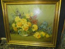Carle J Blenner Oil Still Life Signed