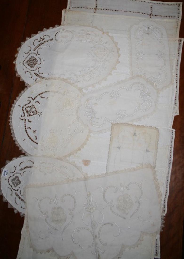 Antique Linen Lot (17)