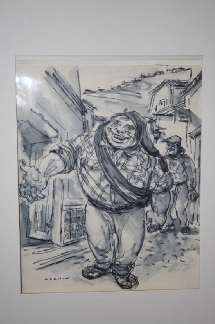 Sam Norkin. Watercolor. Portugese Fisherman. Sgd.