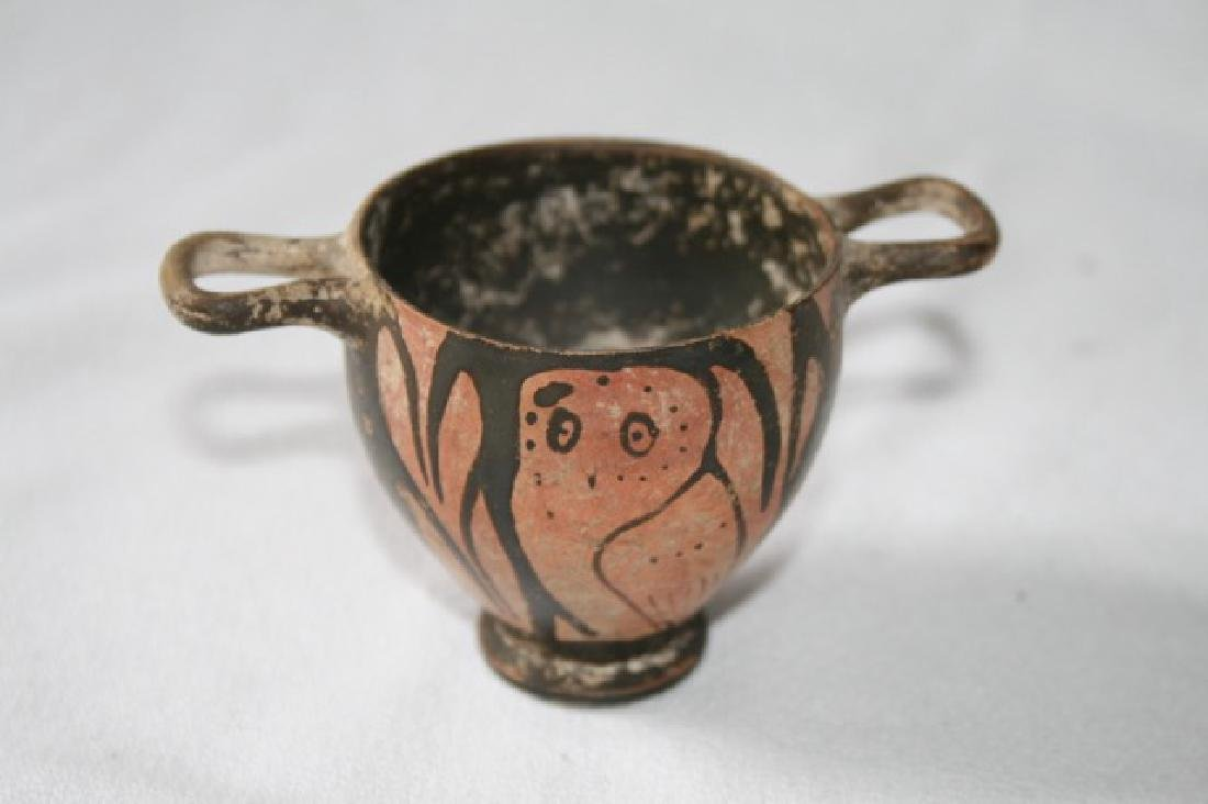 Etruscan Double Handled Owl Pot