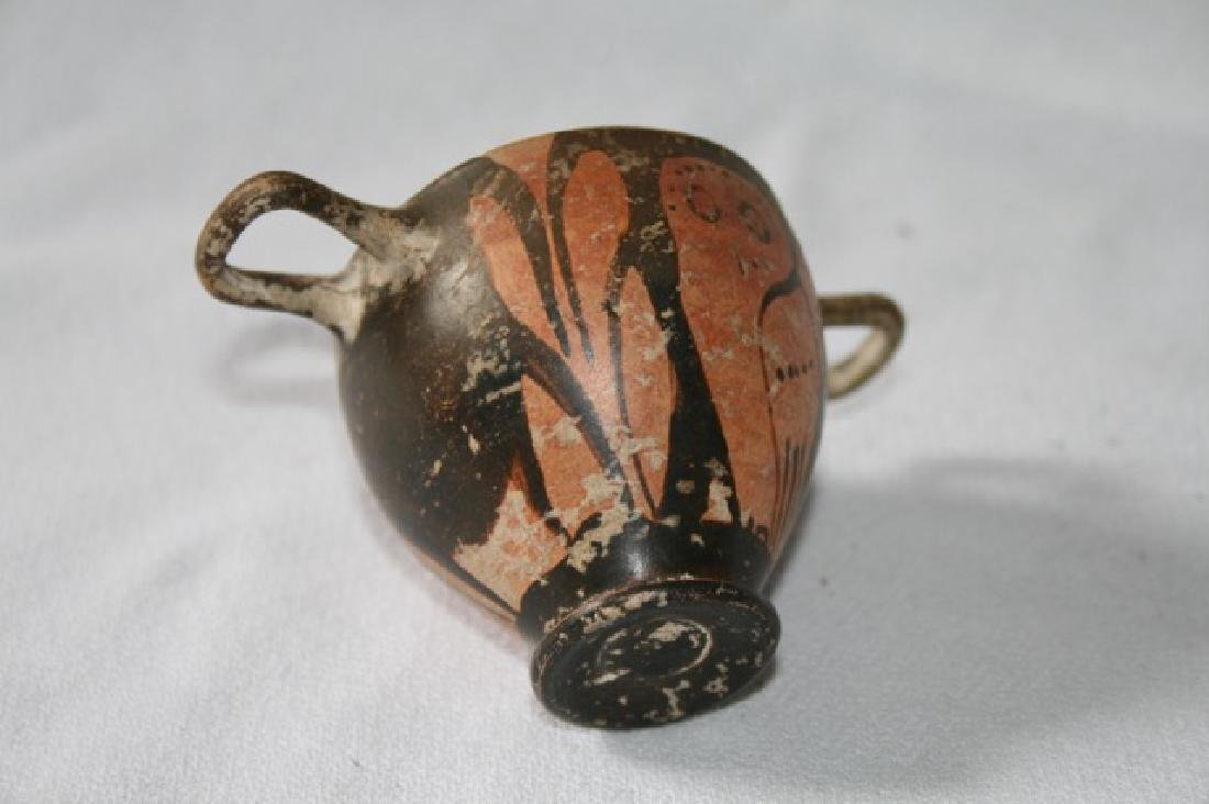 Etruscan Double Handled Owl Pot - 4