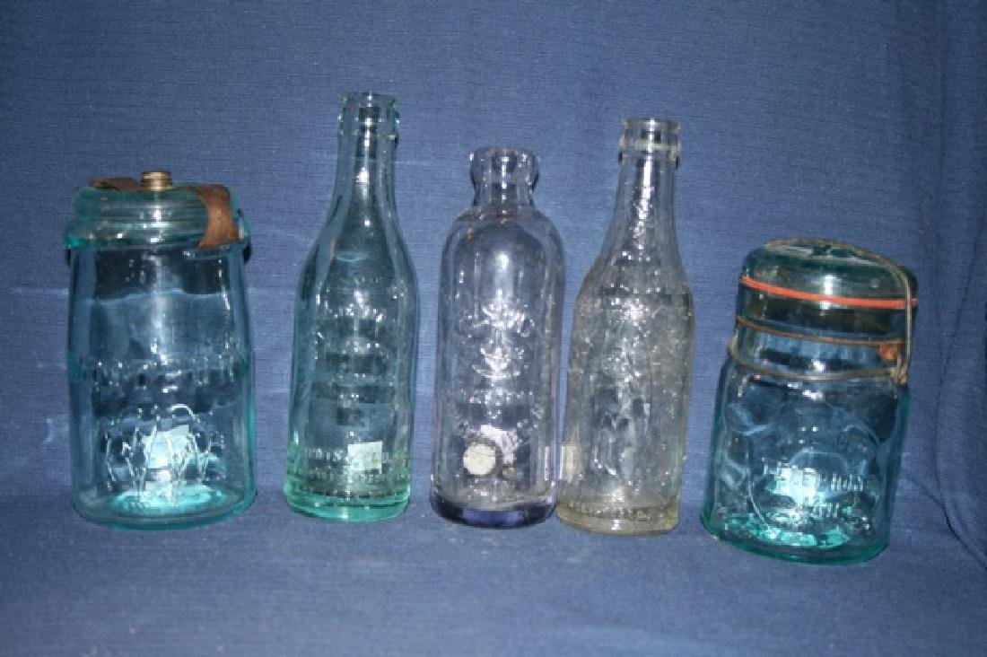 Early Soda Bottles and Canning Jars - 2