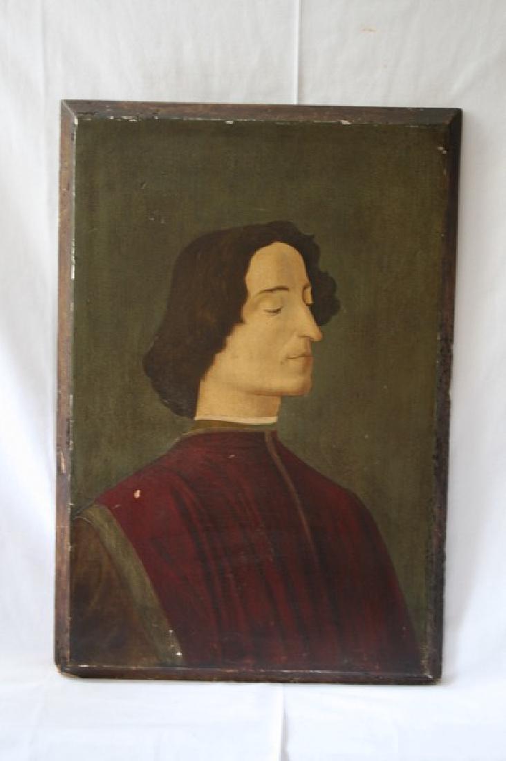 19th C. Italian Oil on Panel, After Botticelli.