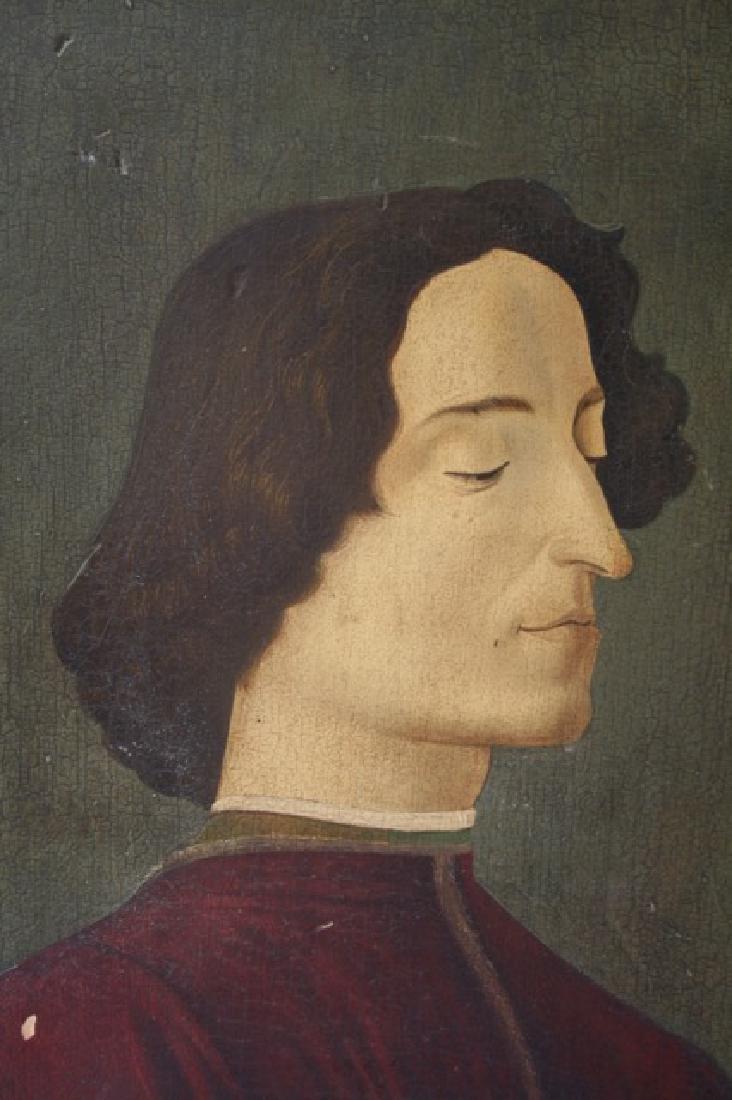 19th C. Italian Oil on Panel, After Botticelli. - 2