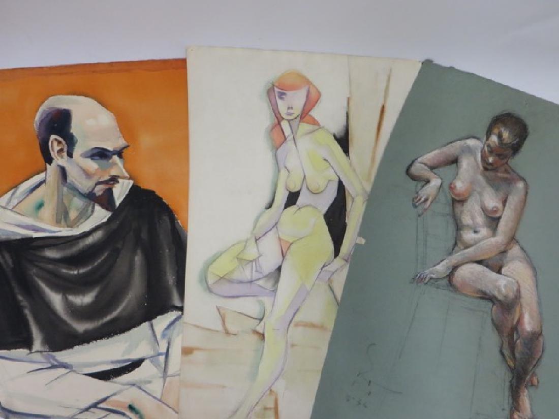 Sam Norkin. Watercolors on Paper. Studies (6)