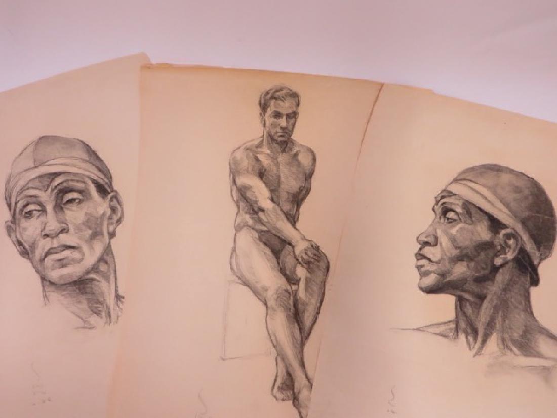 Sam Norkin. Watercolors on Paper. Studies (6) - 2
