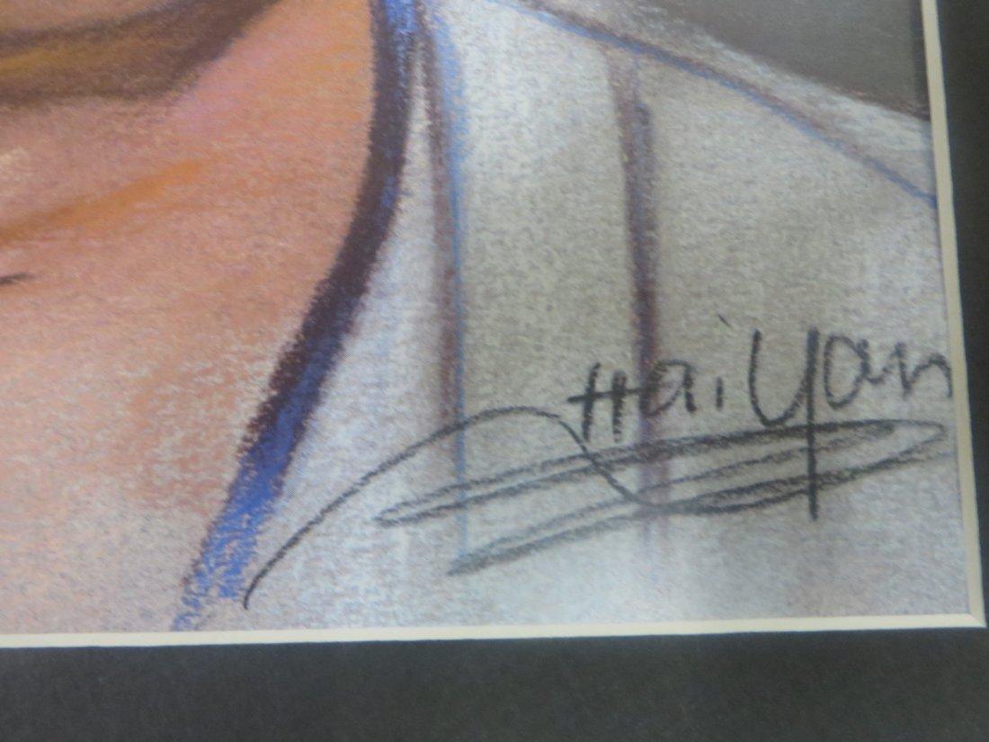 Hai Yan Pastel. Thurman Munson. Signed. - 4