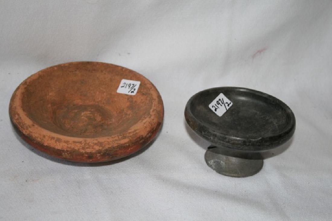 Bucchero Pottery Pc. & Ancient Estruscan Dish