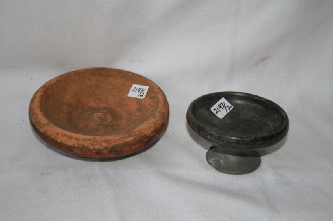 Bucchero Pottery Pc. & Ancient Estruscan Dish - 2