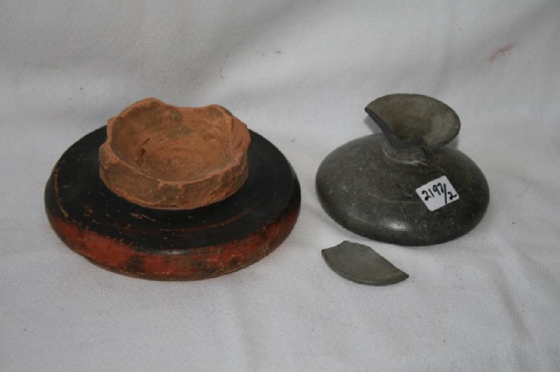 Bucchero Pottery Pc. & Ancient Estruscan Dish - 3