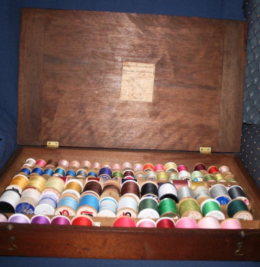 Wooden Sewing Thread Spool Box