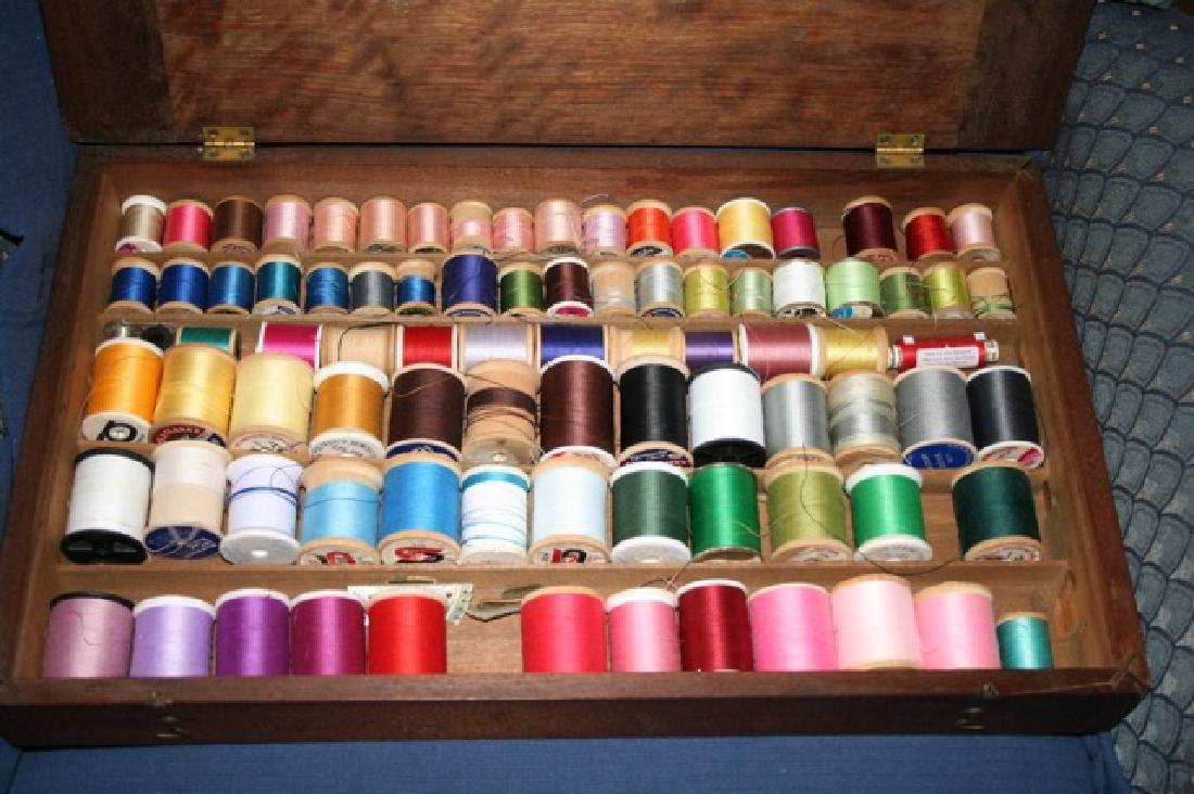 Wooden Sewing Thread Spool Box - 3