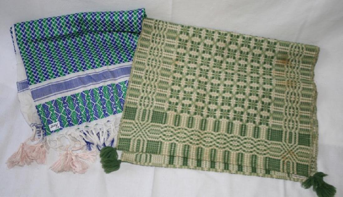 Vintage Table Cover and Woven Runner