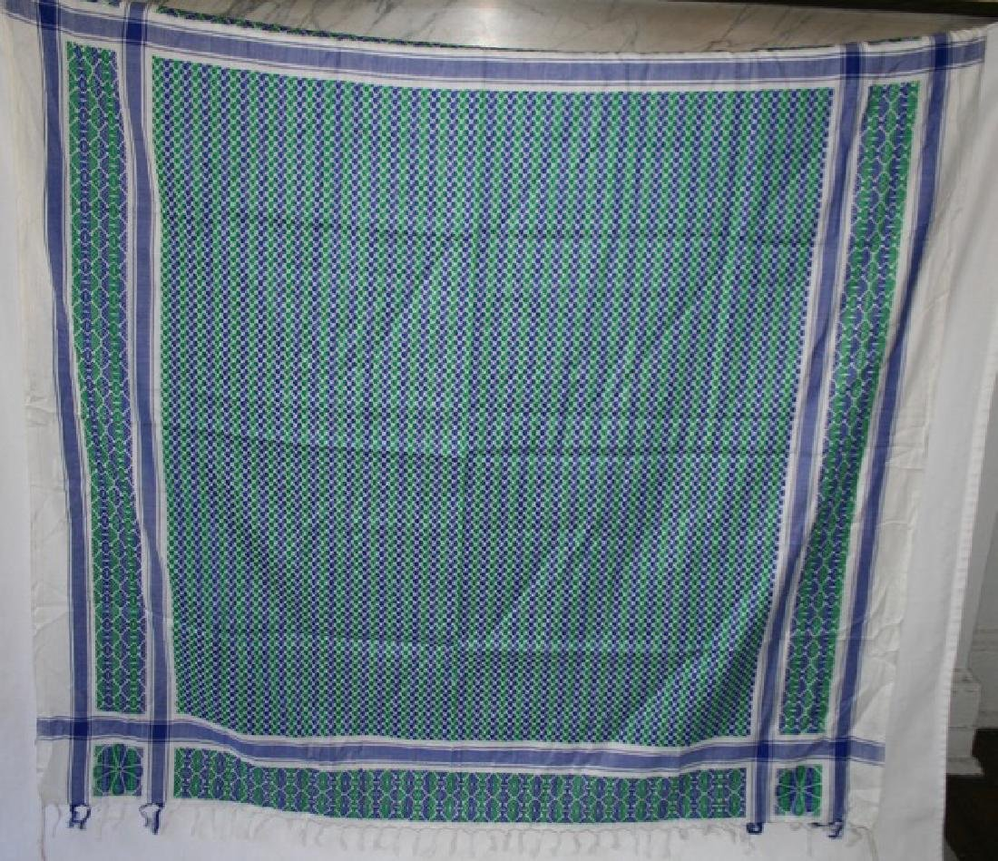 Vintage Table Cover and Woven Runner - 2