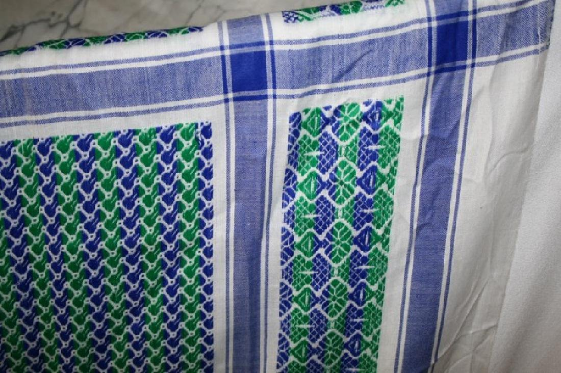 Vintage Table Cover and Woven Runner - 3