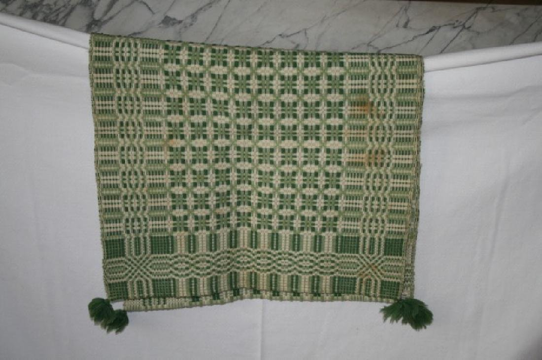 Vintage Table Cover and Woven Runner - 4