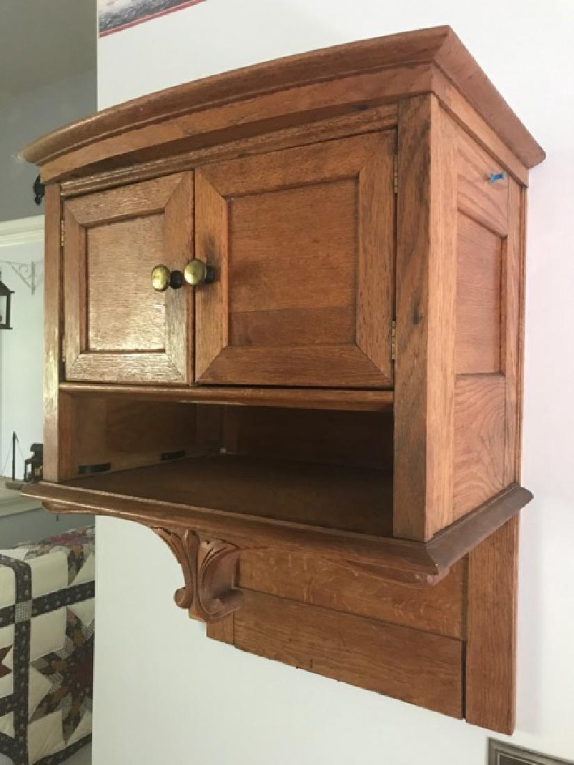 Oak Hanging Wall Cabinet - 2