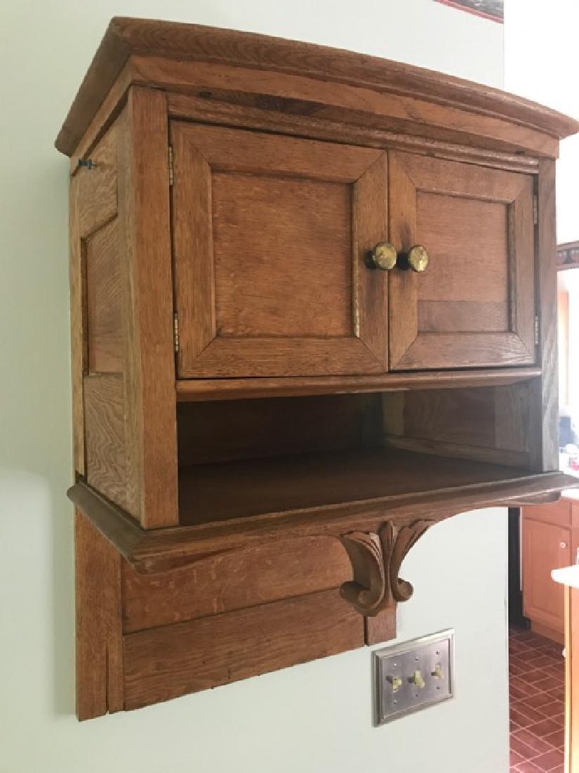 Oak Hanging Wall Cabinet - 3