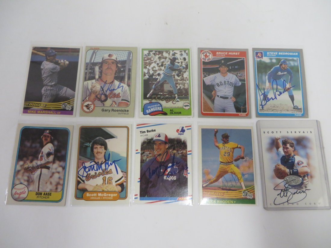 Autographed Baseball Cards (10)