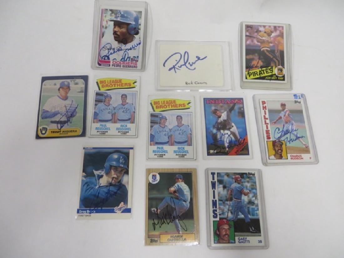 Autographed Baseball Cards. Cerone Autograph etc