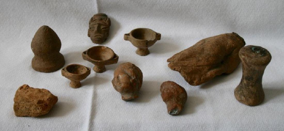 Terra Cotta and Clay Artifacts. Approx 10 - 2