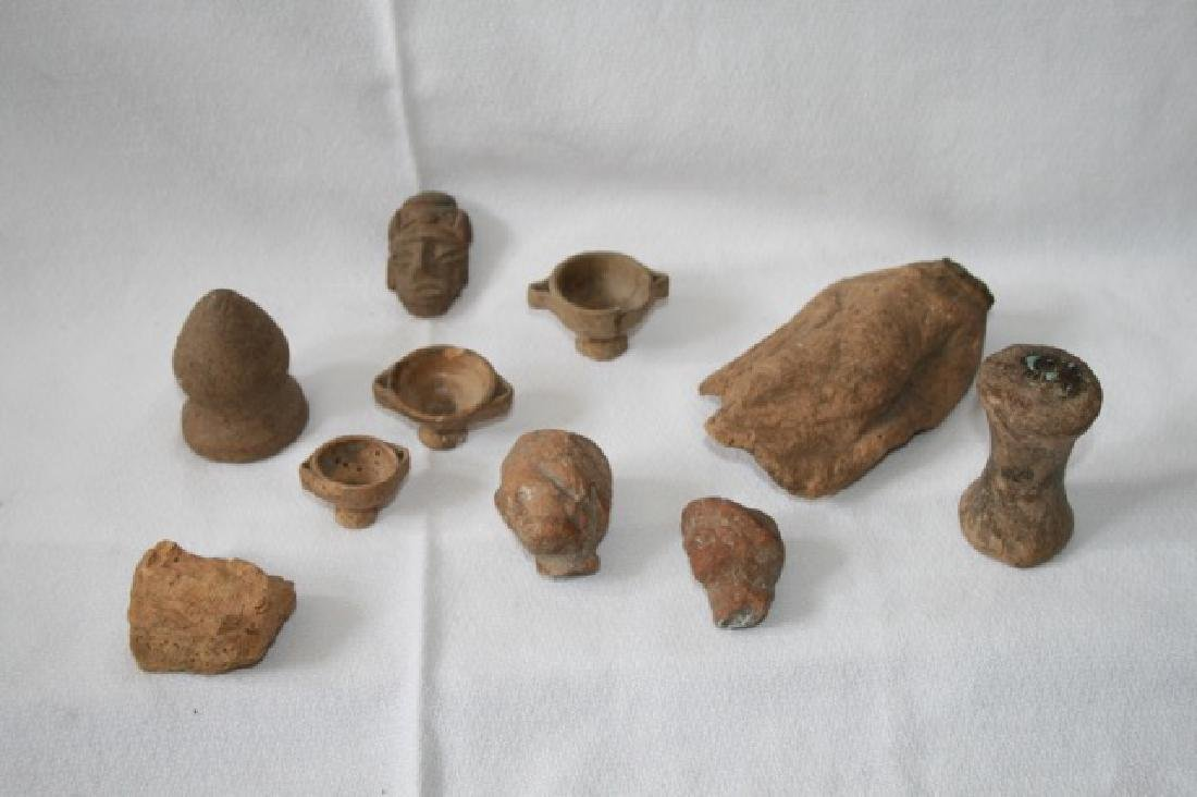 Terra Cotta and Clay Artifacts. Approx 10 - 3