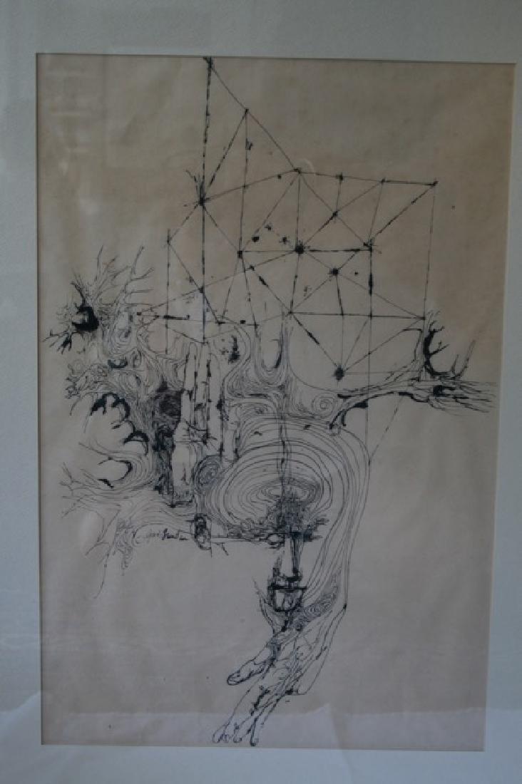 J. Landau Pen and Ink. Signed