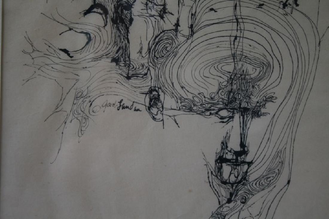 J. Landau Pen and Ink. Signed - 3