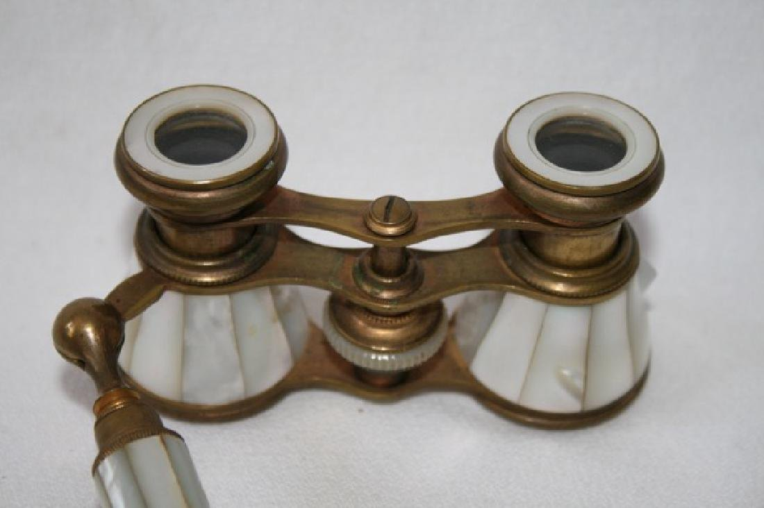 French Mother of Pearl and Brass Opera Glasses - 3