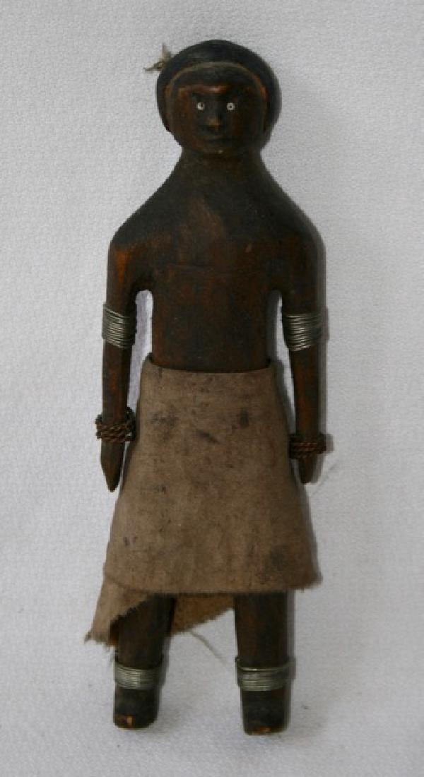 African Carved Wooden Doll Figure