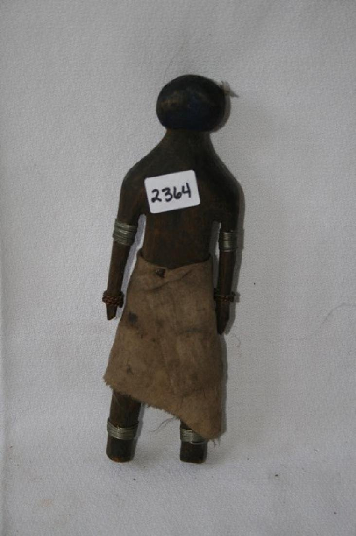 African Carved Wooden Doll Figure - 2
