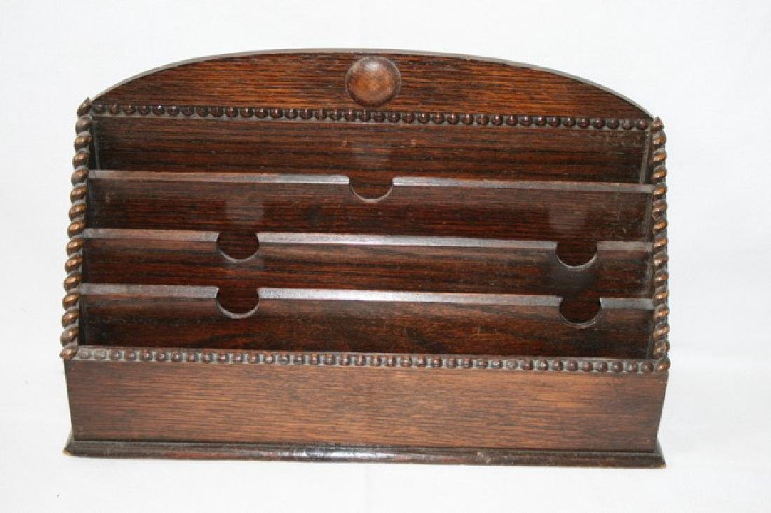 Victorian Oak Pipe/Letter  Four Tier Holder/Rack