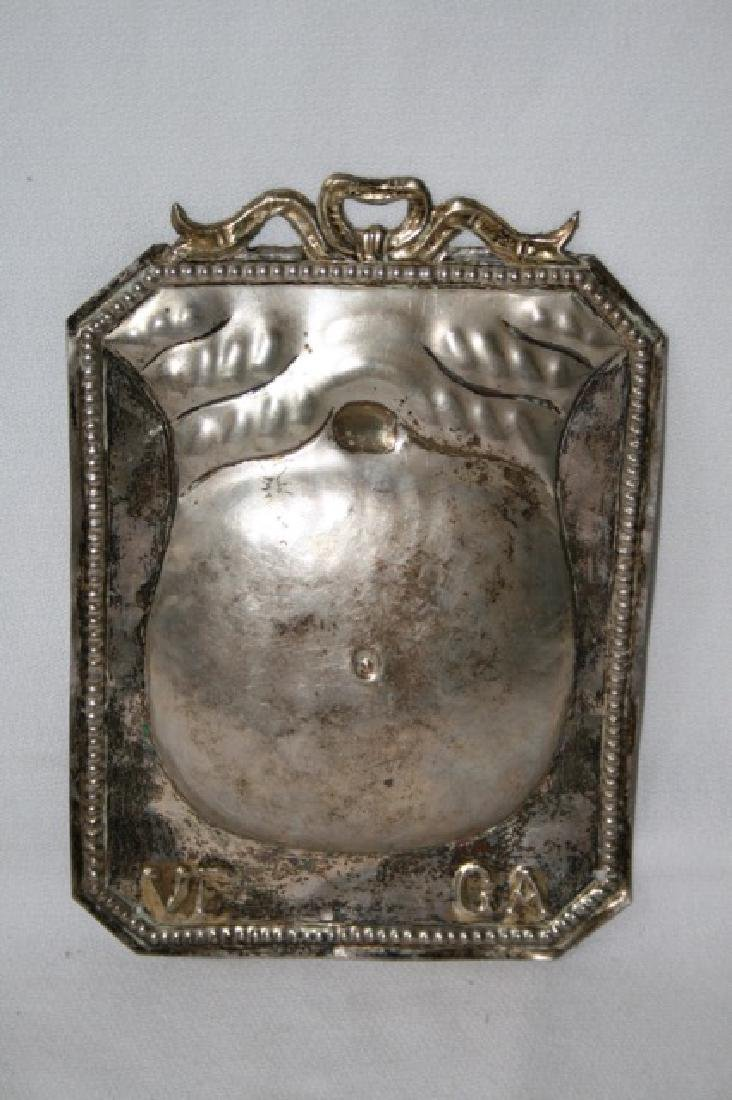 Italian Silver Ex Voto Belly Marked VF GA