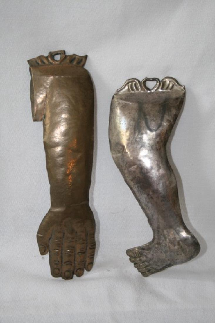 Italian Silver Ex Voto Hand and Foot