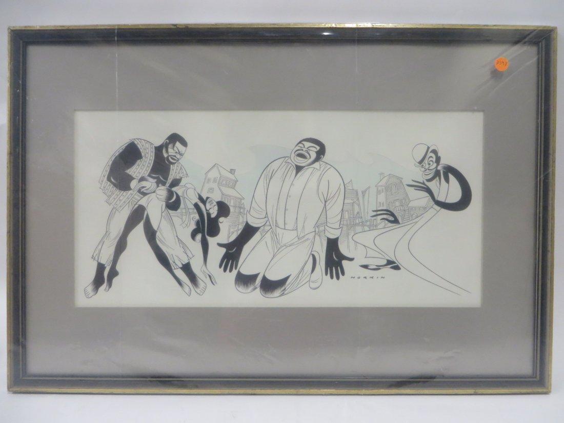 Sam Norkin. Pen and ink. Porgy & Bess. Signed - 2