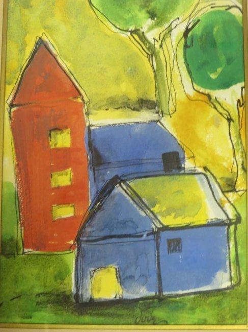 Arthur Dove. Watercolor. Signed