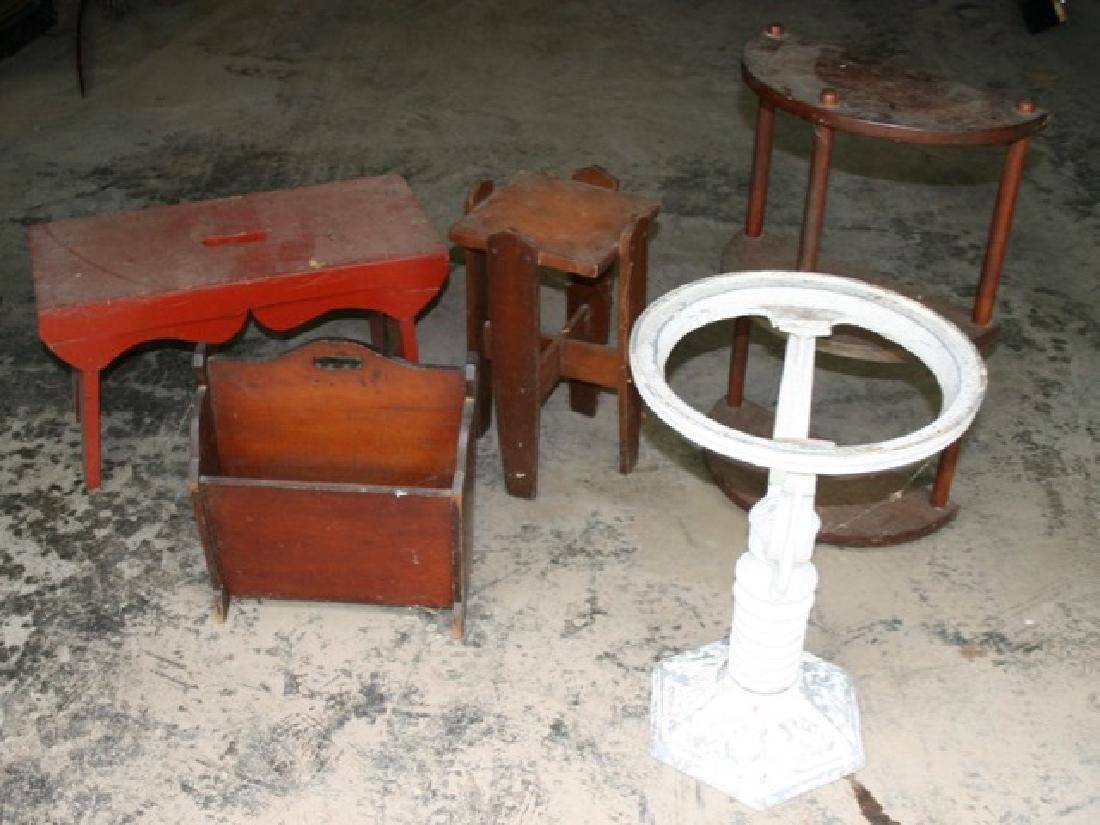 Five Misc. Pieces of Small Furniture