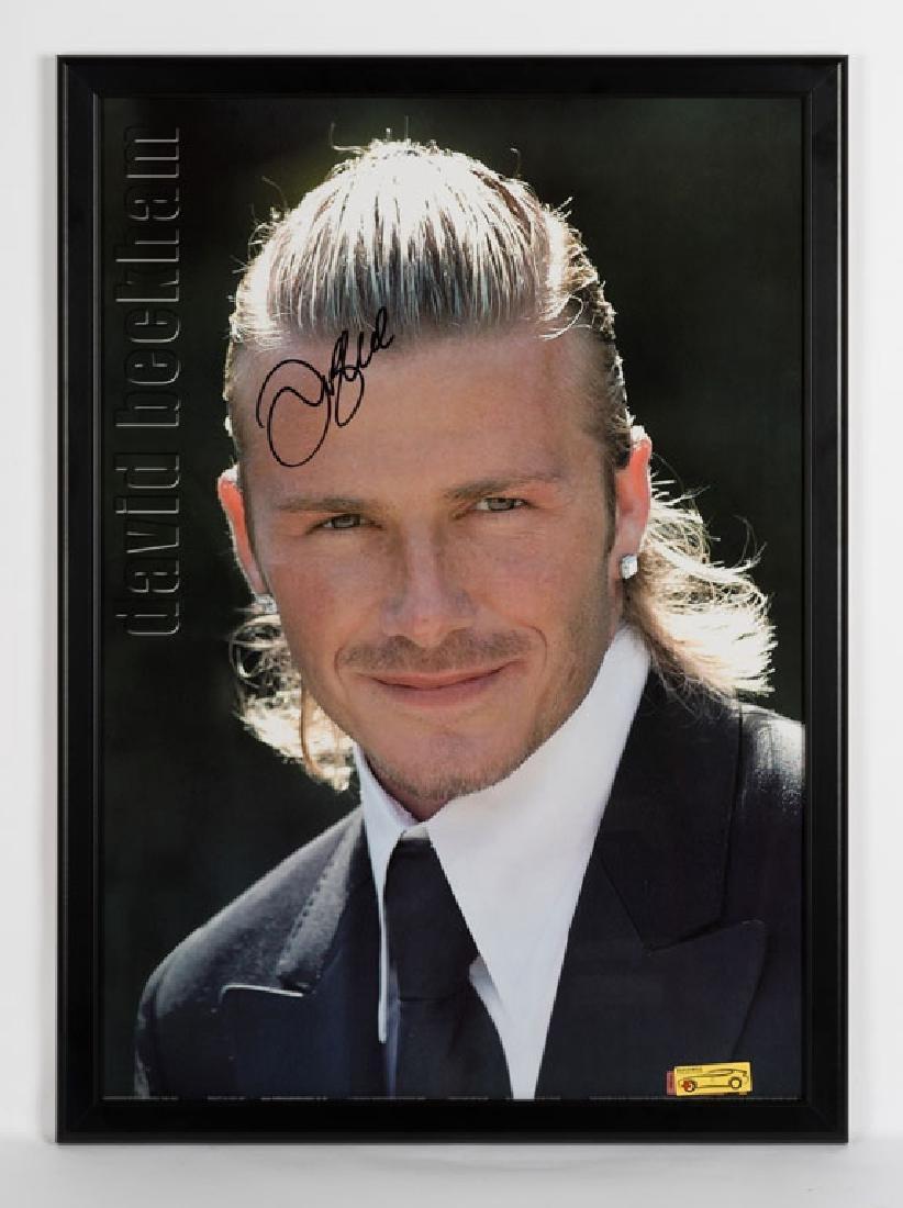 David Beckham Signed Poster