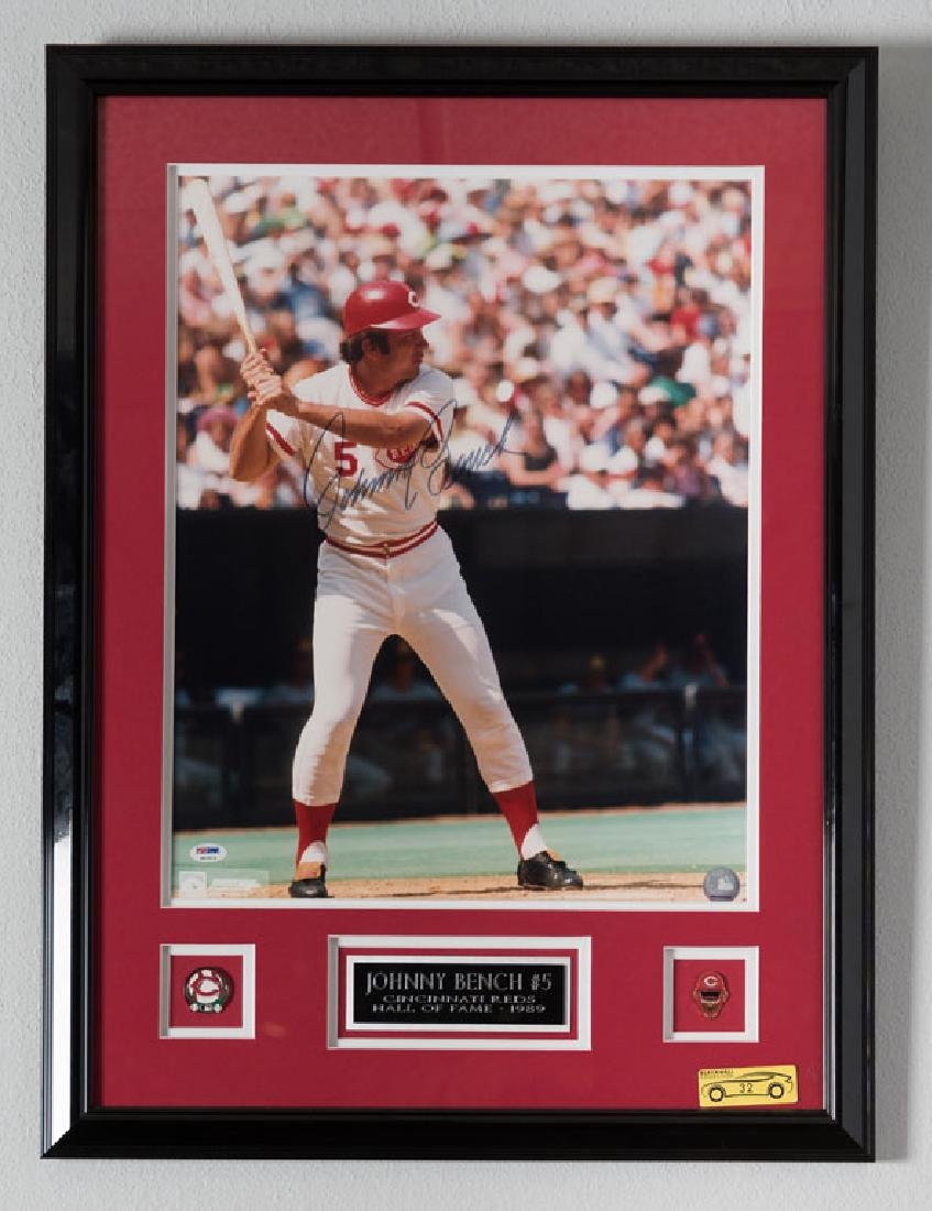 Johnny Bench Signed Photo