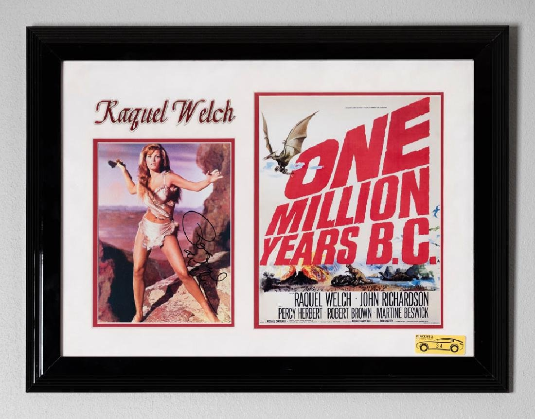 One Million Years B.C. Memorabilia, Signed by Raquel