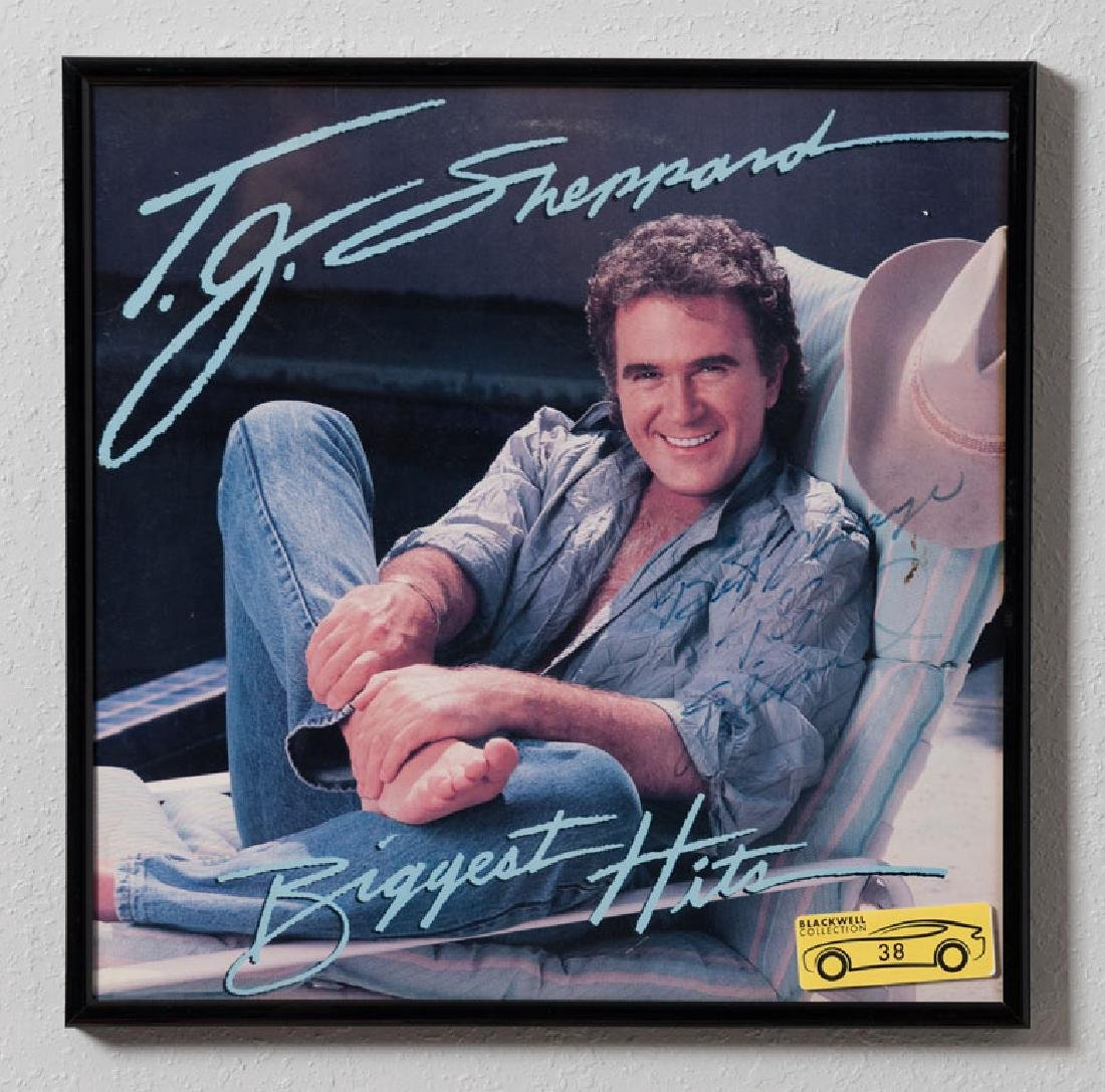 T.G. Sheppard Signed LP Photo