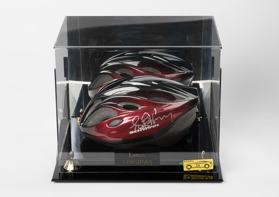 Lance Armstrong Signed Helmet