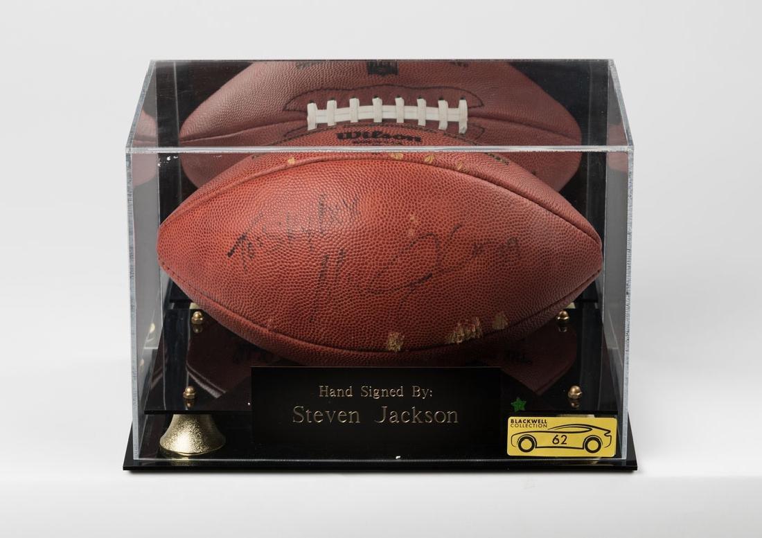 Steven Jackson Signed Football