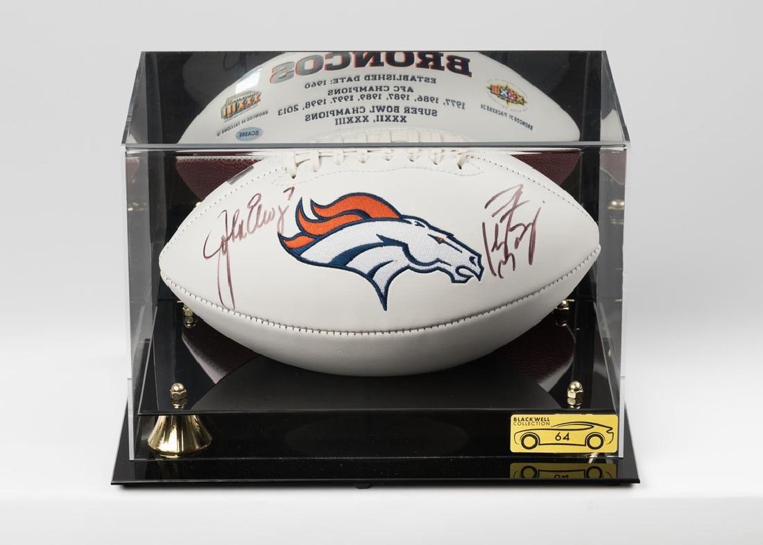 John Elway and Peyton Manning Signed Football