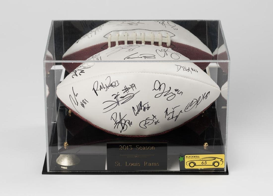 St. Louis Rams Signed Football
