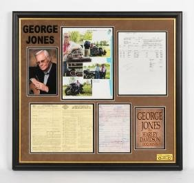 George Jones' Personal Harley Davidson Documents