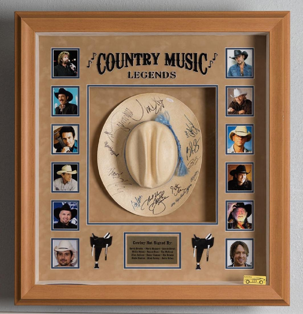 Country Music Legends Signed Cowboy Hat
