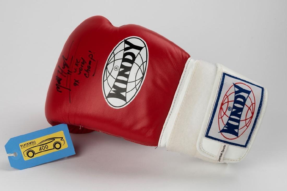 Matt Hughes Signed Boxing Glove